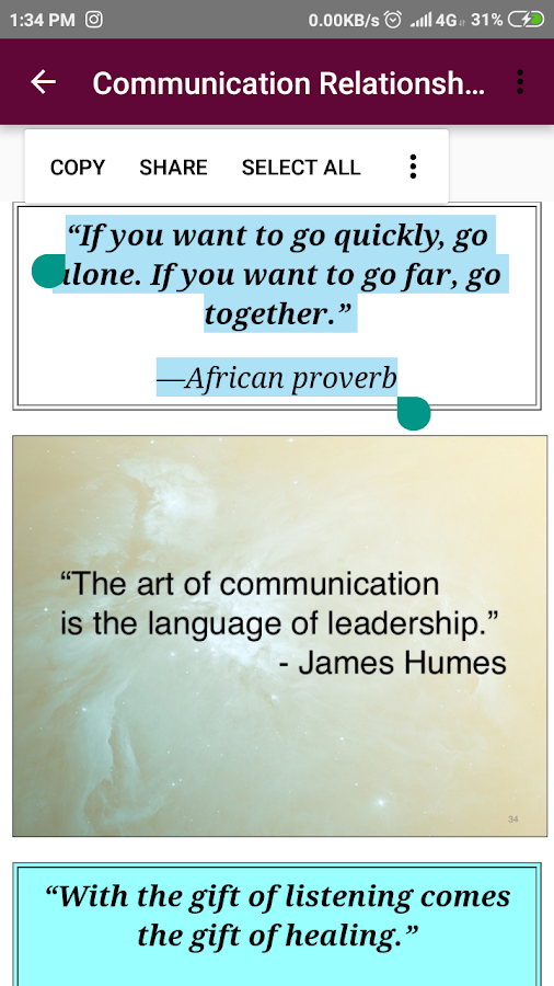 Communication And Relationship Quotes Of The Day 16 Apk