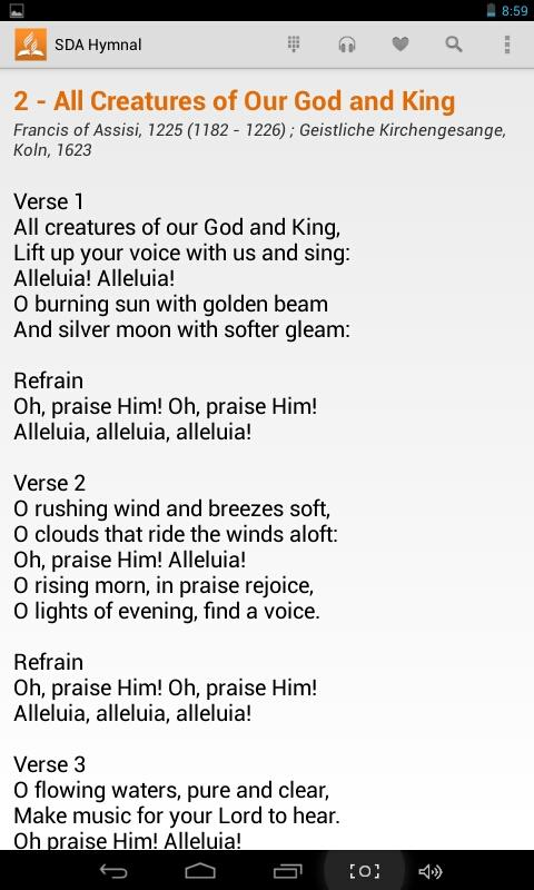 SDA Hymnal 1 6 APK Download - Android Music & Audio Apps