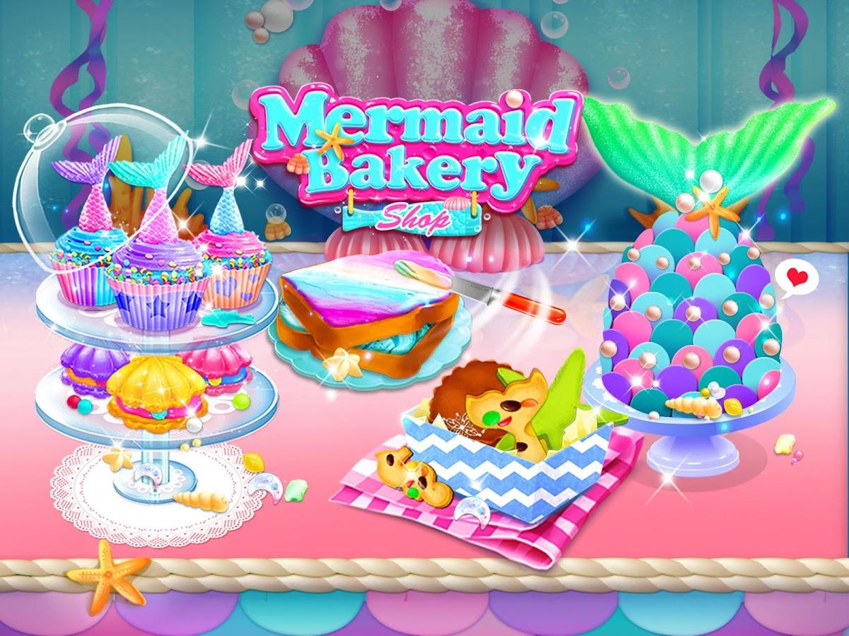 Mermaid Unicorn Cupcake Bakery Shop Cooking Game 14 Apk Download