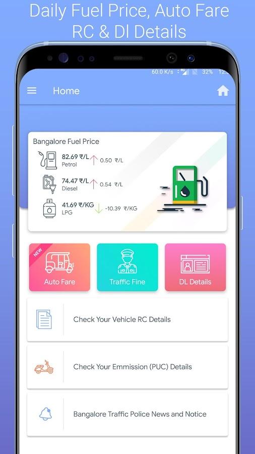 🚦Bangalore Traffic Ticket Challan Check Auto Fare 7 1 4 APK