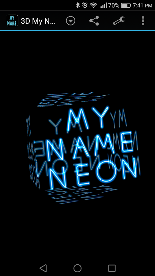 3d My Name Neon Live Wallpaper 185 Apk Download Android