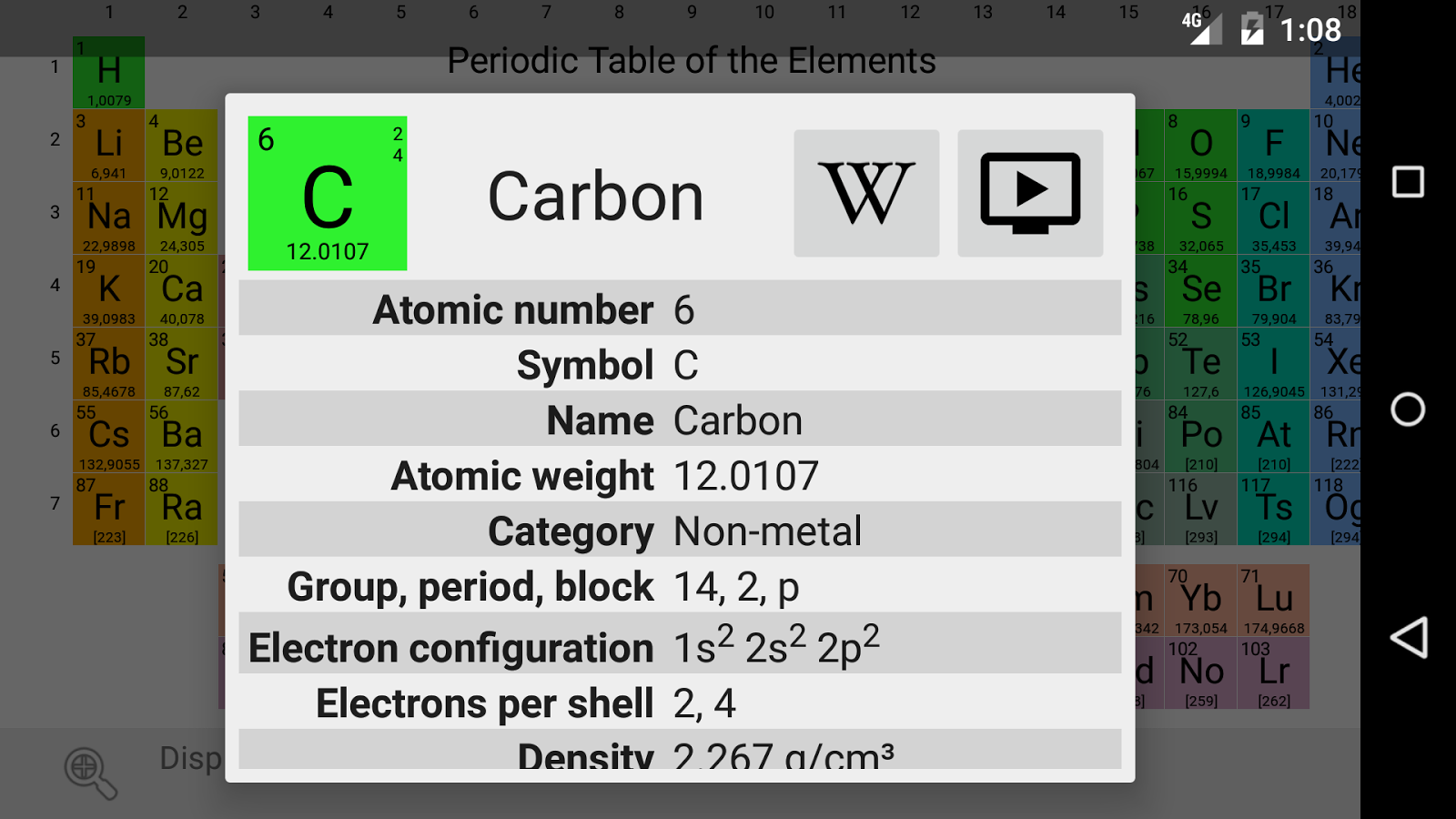 Elementary periodic table 086 apk download android books elementary periodic table 086 screenshot 2 urtaz Choice Image