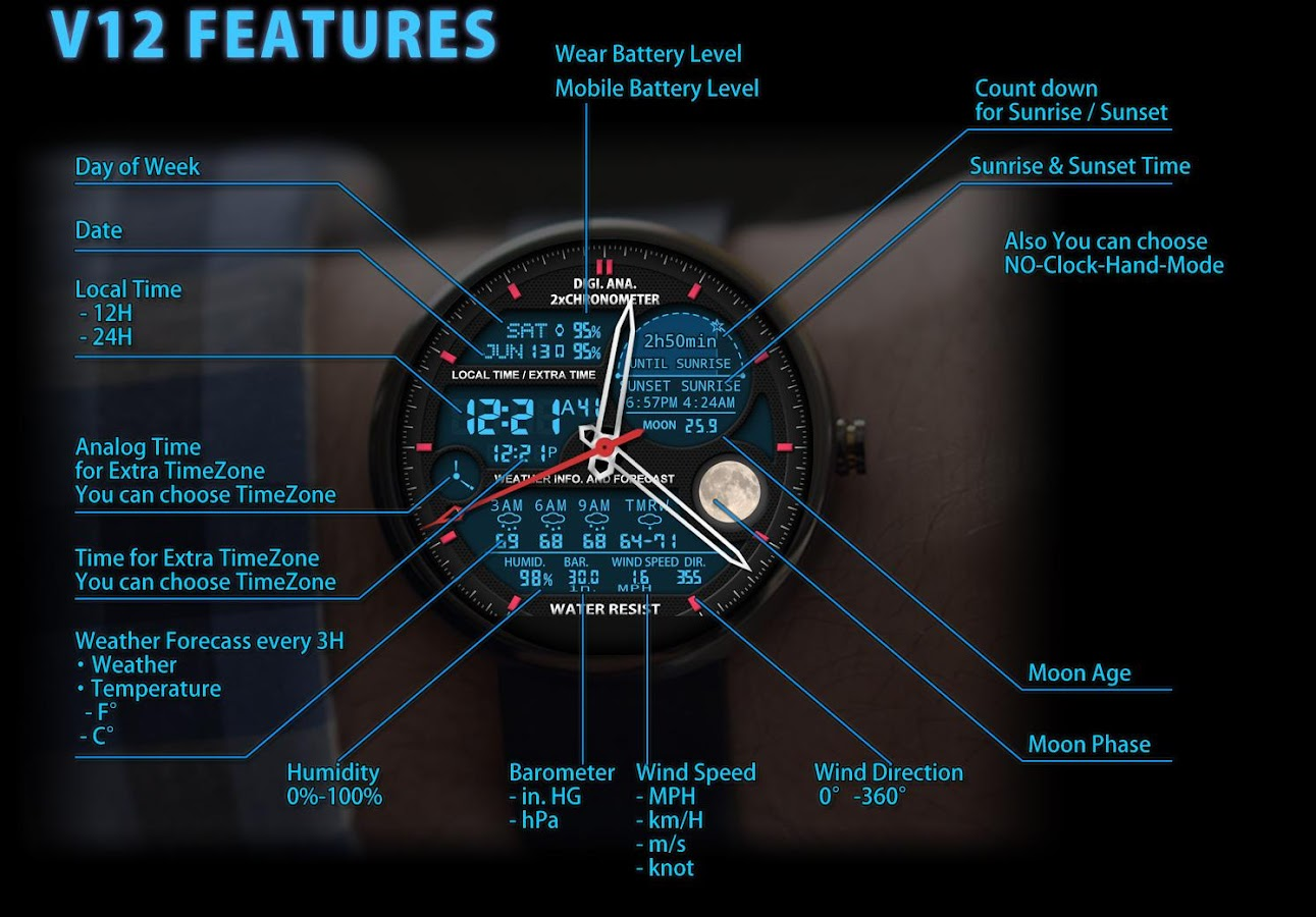V12 Watch Face for Moto 360 7 0 1 APK Download - Android