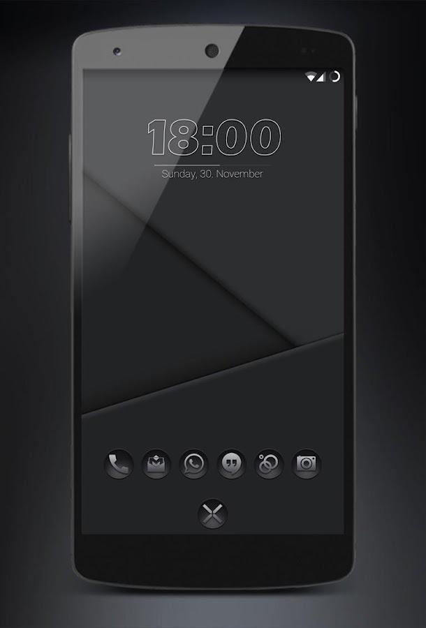 Blacked- Black Icons Nova Apex 1 3 APK Download - Android
