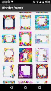 Birthday photo frames 5.0 screenshot 2