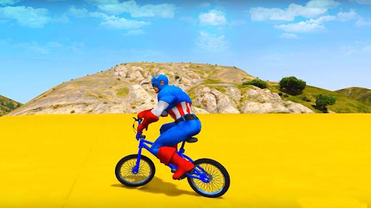 Superheroes Bmx Racing: Bicycle Xtreme Stunts 1.1 screenshot 1