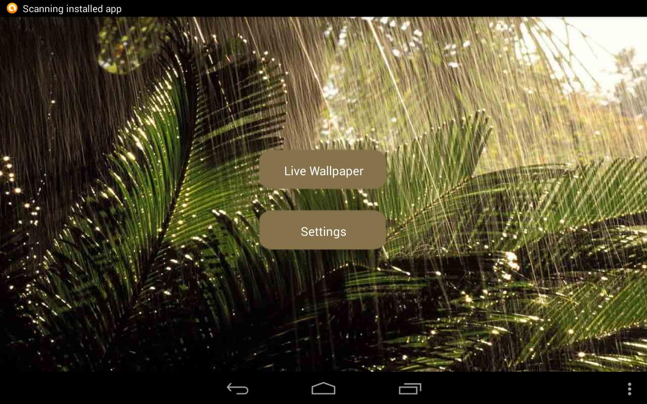 ... Rain Live Wallpaper 1.0.1 screenshot 9 ...