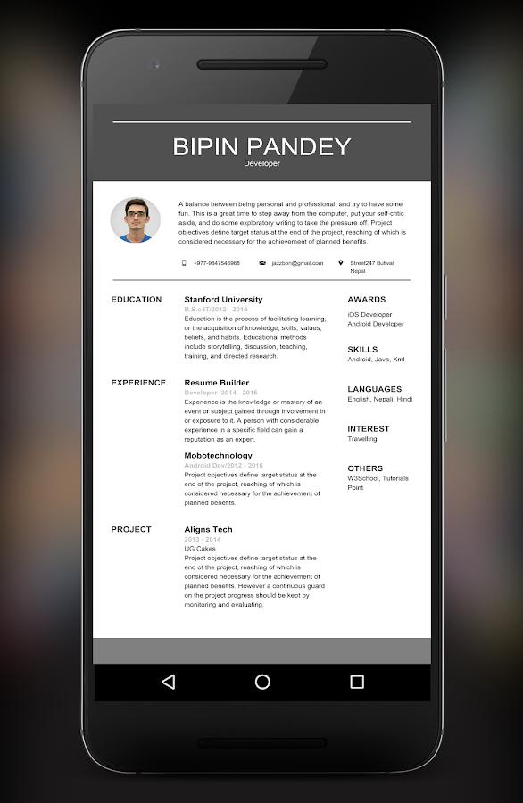 resume builder app 304 screenshot 12 - Resume Builder App