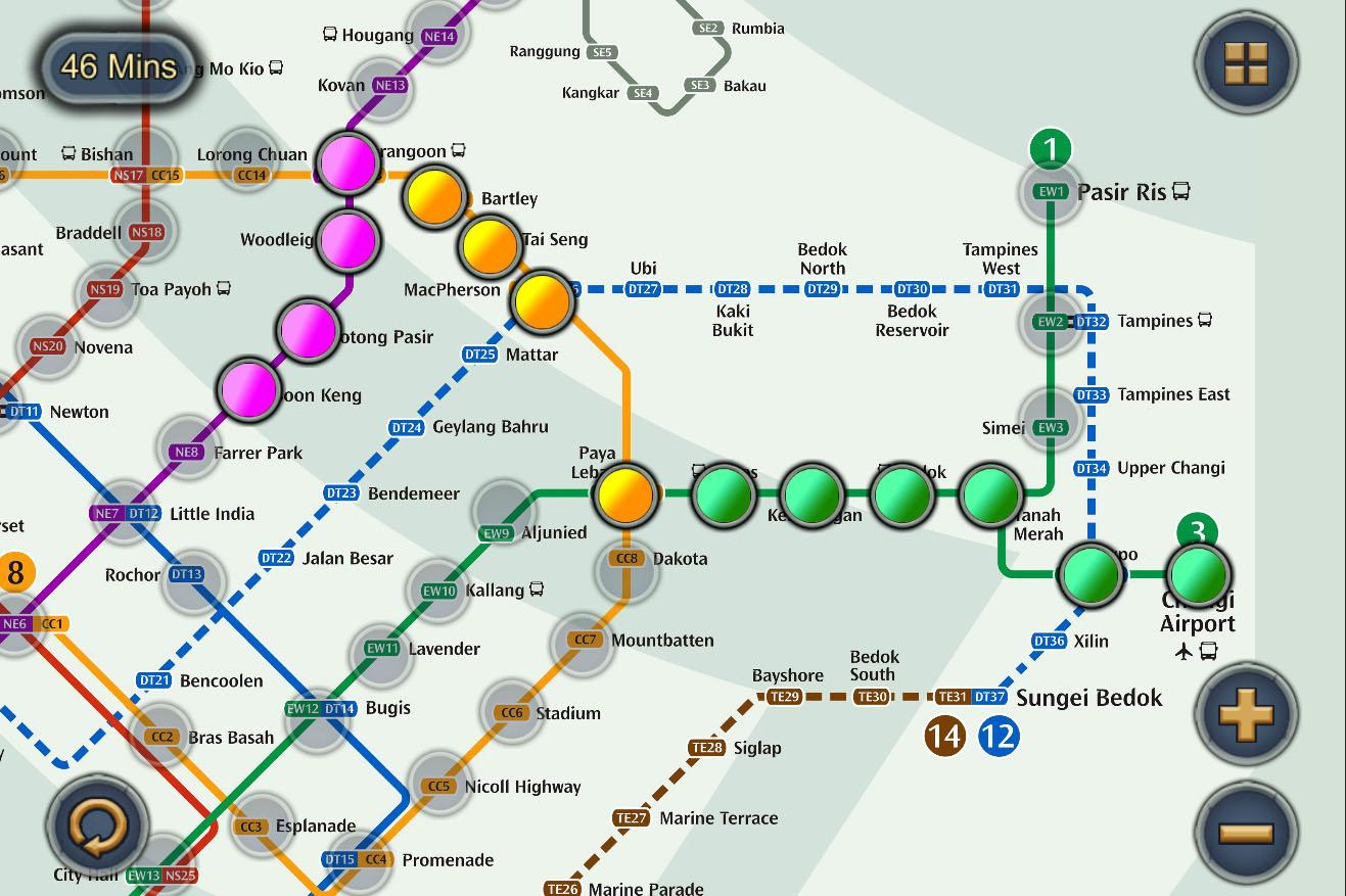 Singapore Mrt Map Route Subway Metro Transport 2 2 Apk Download