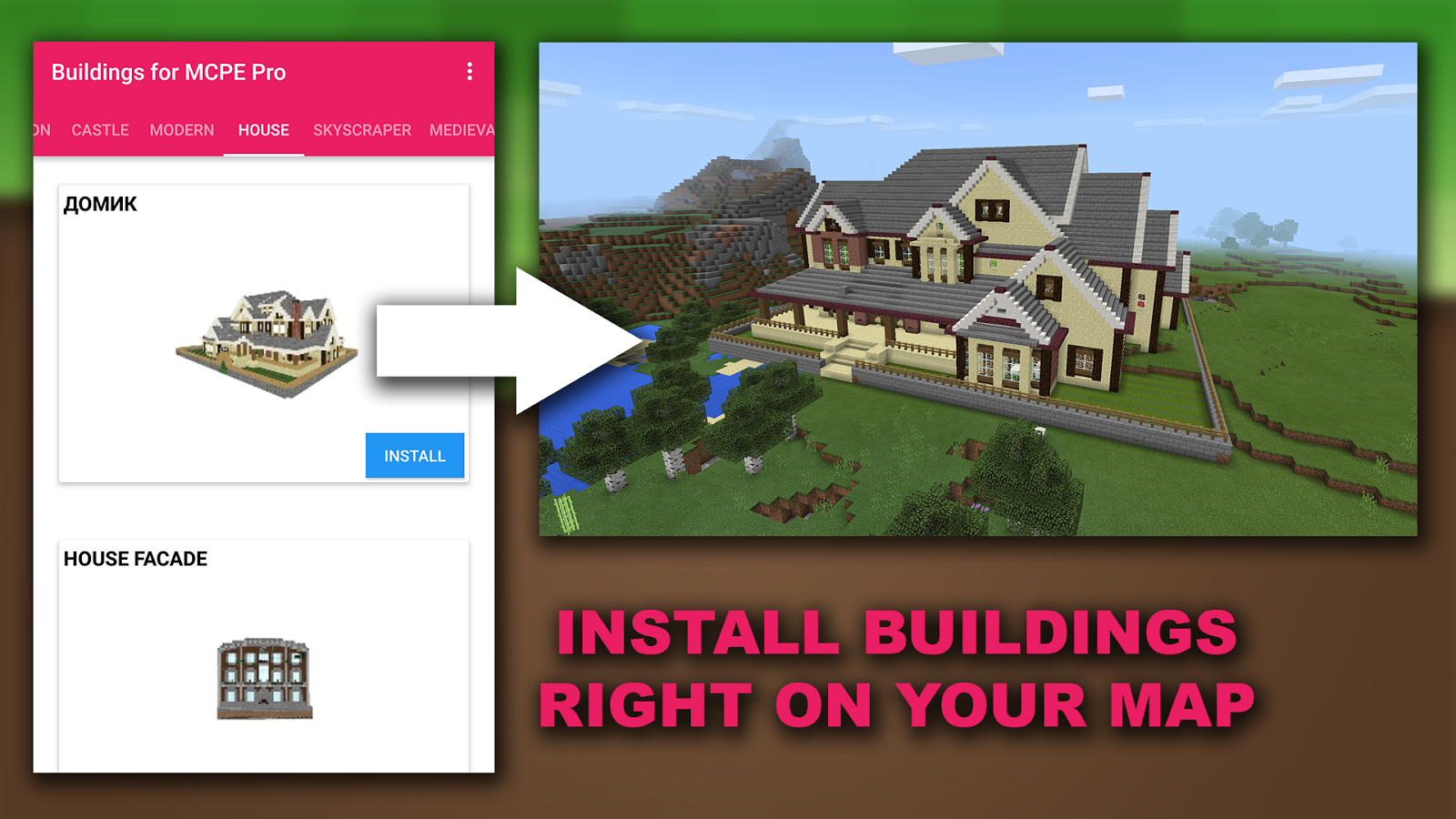 Buildings for Minecraft PE Pro 1 1 APK Download - Android