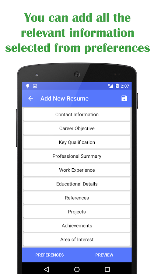 quick resume builder 1 0 4 apk download android productivity apps