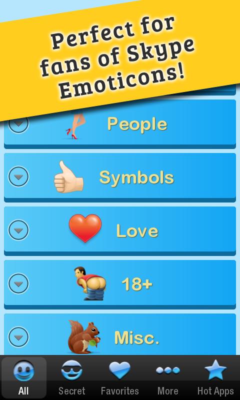 Secret Emoticons for Skype Pro 1 8 APK Download - Android