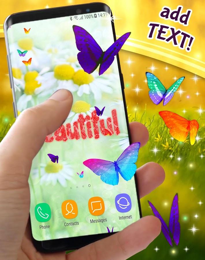 Neon Butterflies On Screen  Screenshot