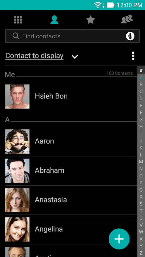 ASUS Contacts Theme - Dark 2 0 0 8_151105 APK Download - Android