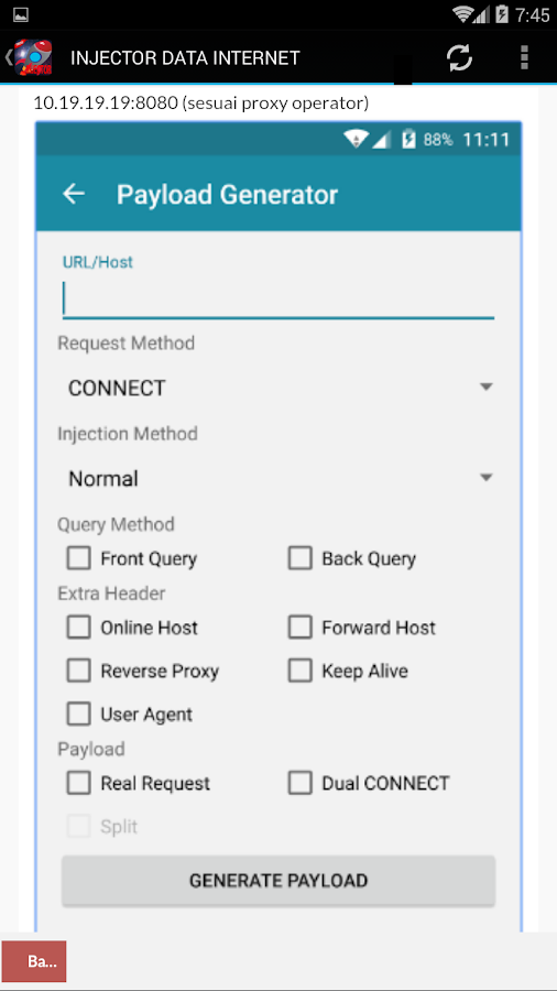 HTTP INJECTOR PRO 2018 Config 1 1 APK Download - Android Tools Apps