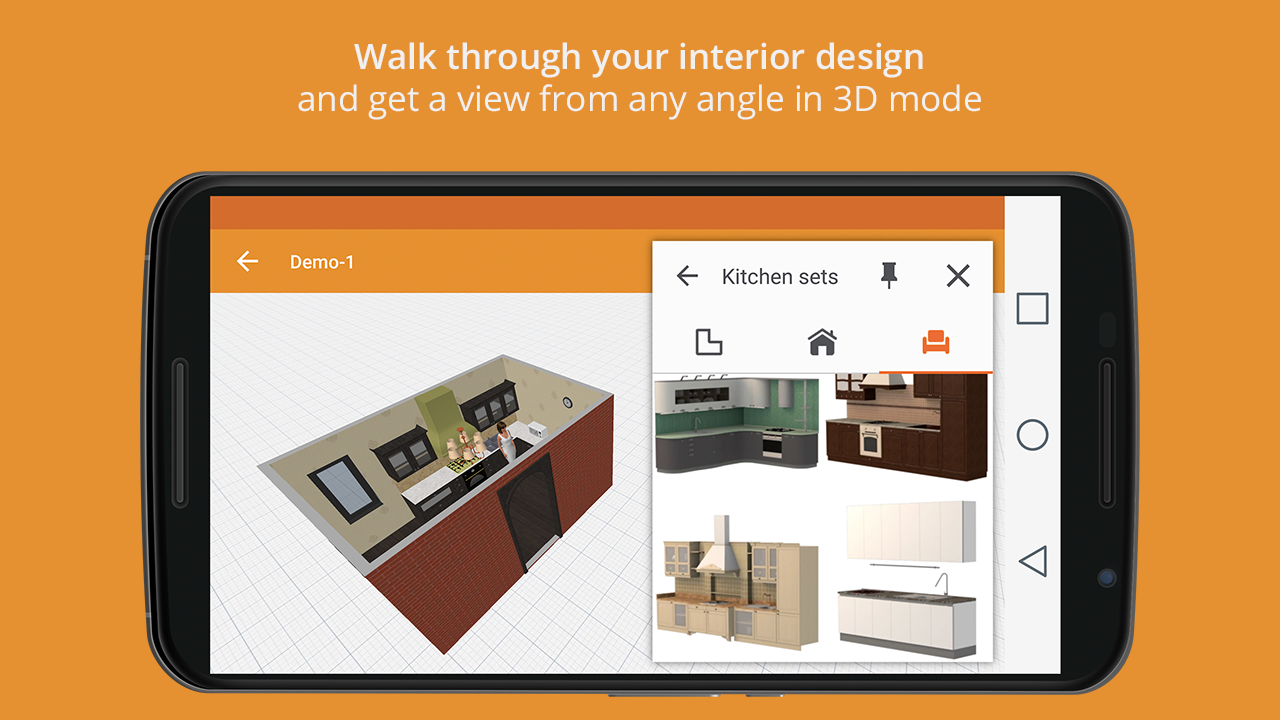 Kitchen design premium 1 1 1 apk download android for Bathroom planner app android