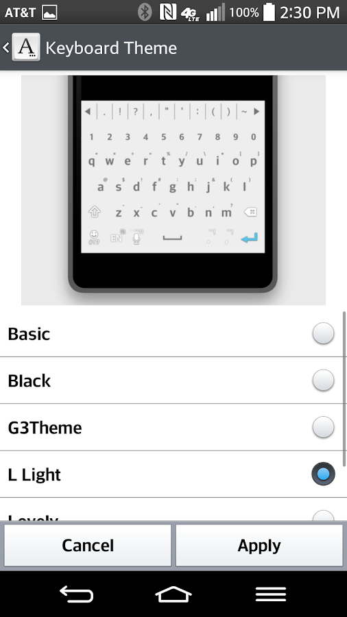 L-Light Keyboard LG THEME 2 0 13 APK Download - Android