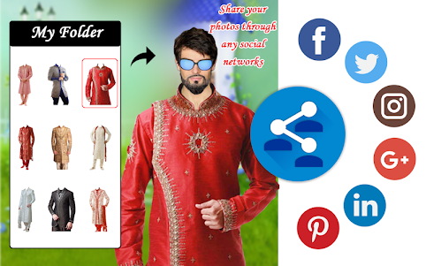 Men Shirt With Tie Photo Suit Maker 1.0.9 screenshot 21