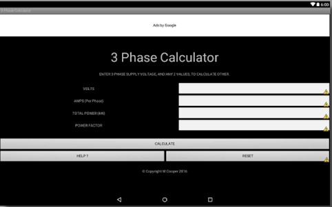 3 PHASE POWER CALCULATOR 2.4 screenshot 1