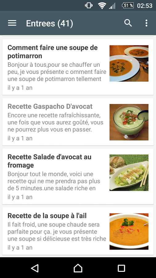 Idee repas 4 2 apk download android apps for Idee application web