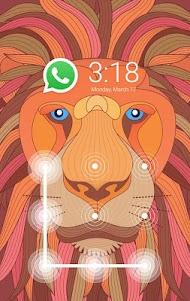 AppLock Theme Lion-Fingerprint 1.0.0 screenshot 1