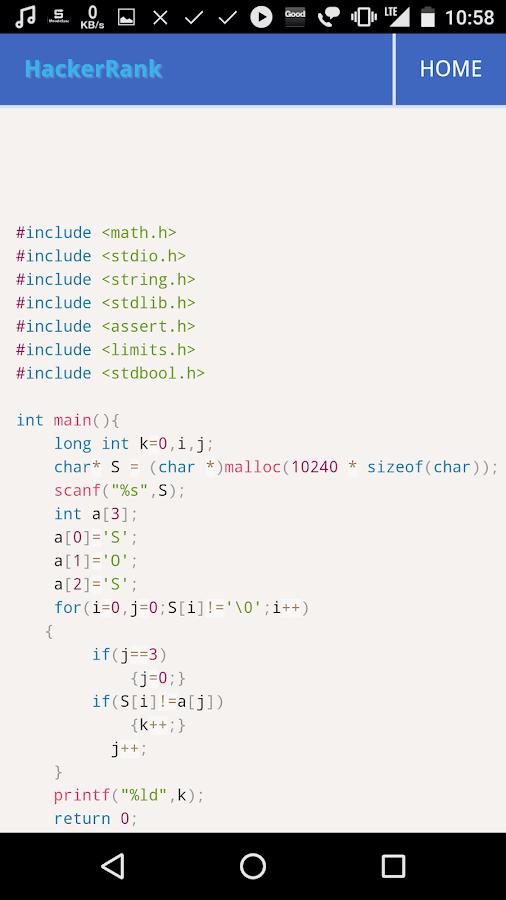 C Hacker Rank 2 4 APK Download - Android Education ئاپەکان