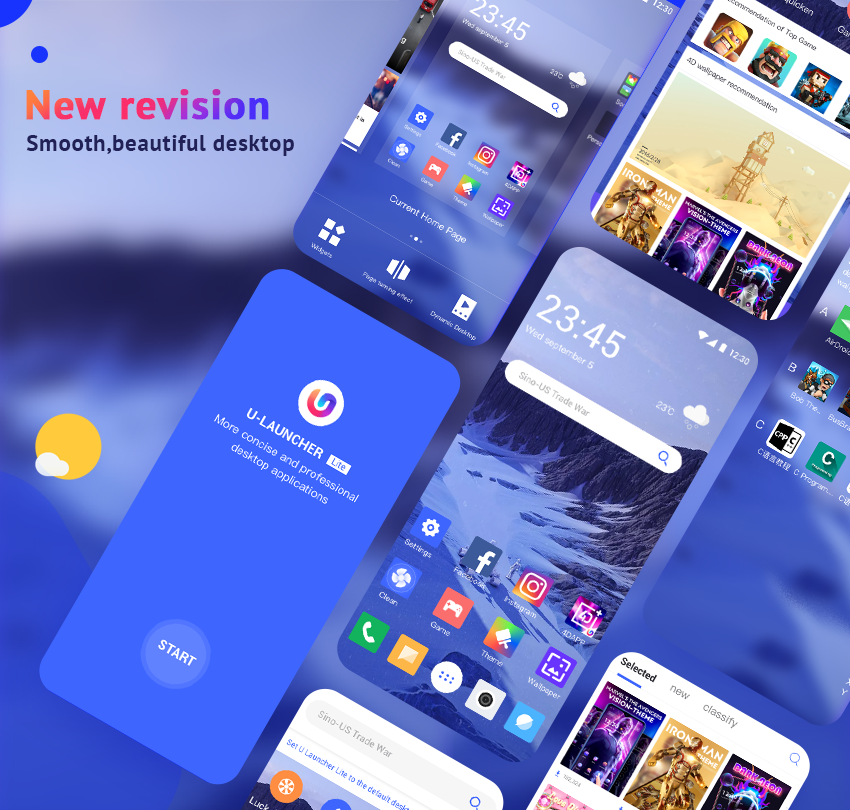 U Launcher Lite-New 3D Launcher 2019, Hide apps 2 0 7 APK