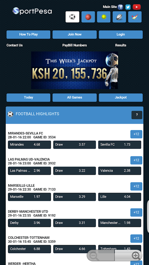 Sportpesa 2 0 0 APK Download - Android Productivity Games