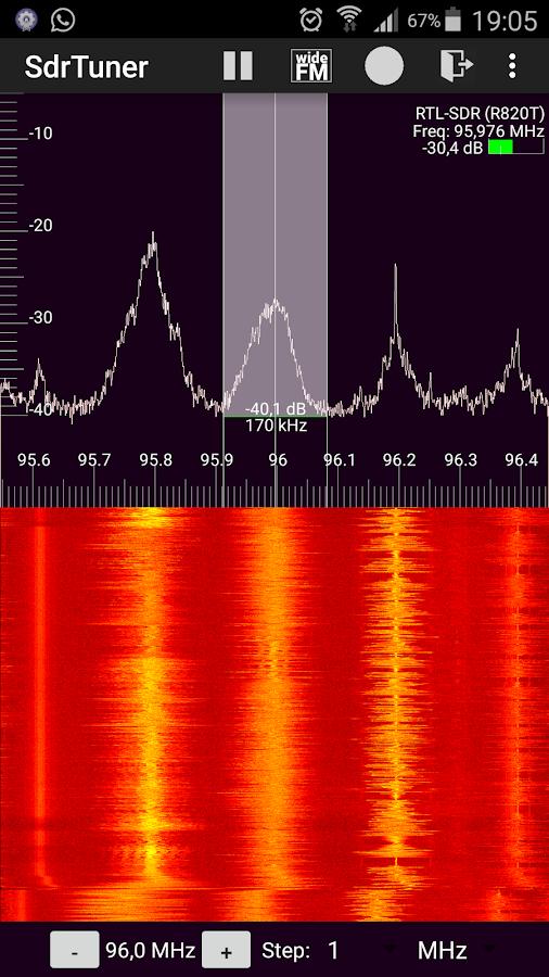SdrTuner HackRF Rtl Sdr RF Spectrum 2 0 APK Download - Android Tools
