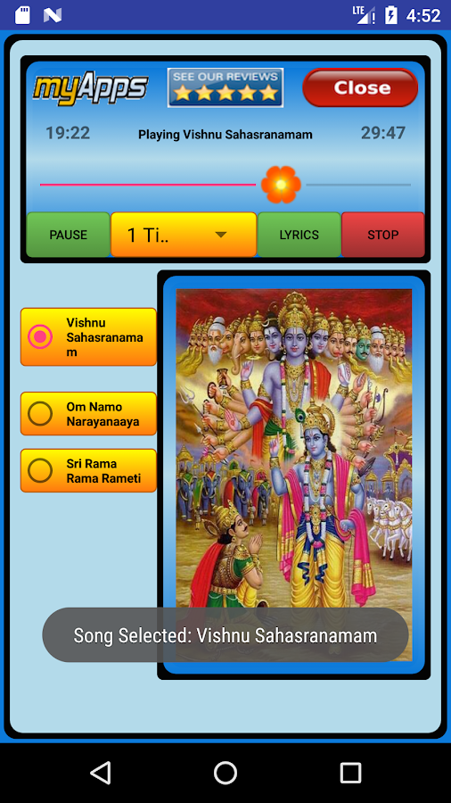 Vishnu Sahasranamam Audio 1 0 APK Download - Android Music