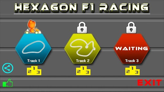 Hexagon Track Racing 1.5 screenshot 1