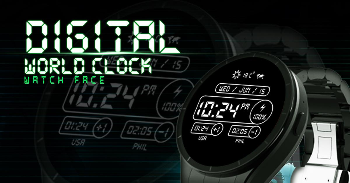 Digital World Time Watch Face 1 3 APK Download - Android