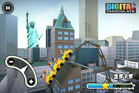 3D Rollercoaster Rush New York 1.5 screenshot 1