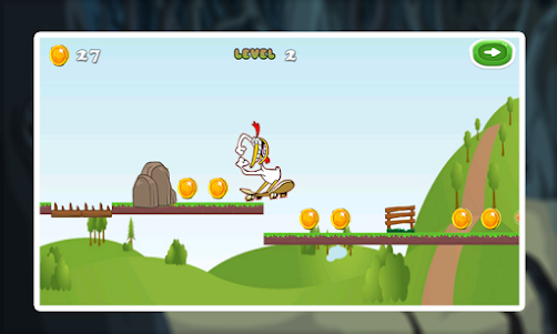 Chicken Run Skater Games 1.0 screenshot 1