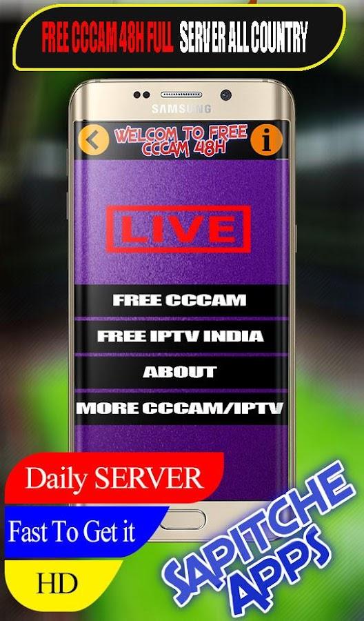 Daily I P T V & CCCAM SERVER - Sapitche 1 2 APK Download - Android