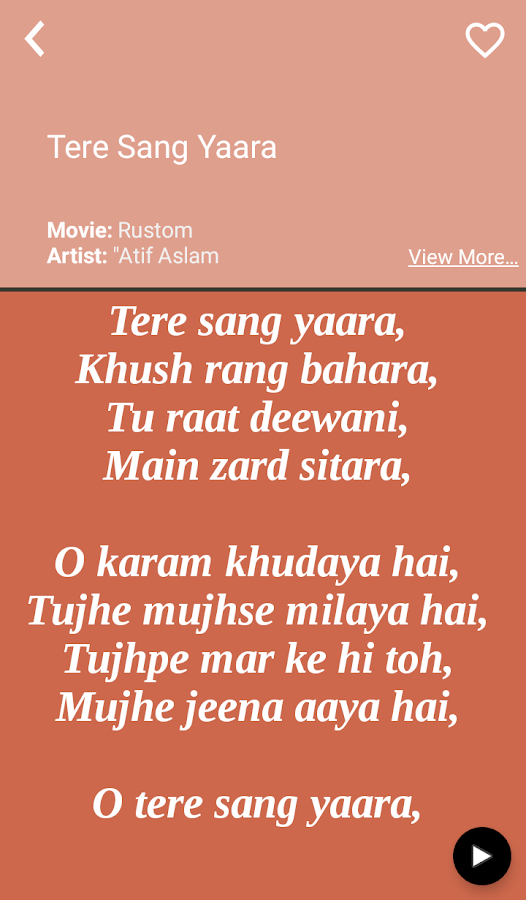 Hit Atif Aslam\'s Songs Lyrics 2.1 APK Download - Android Music ...