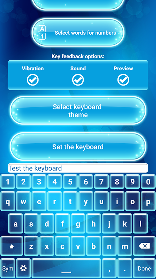 Neon Blue Emoji Keyboard 2 4 Apk Download Android