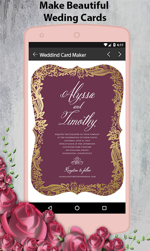 Stylish Wedding Invitation Card Maker 2018 1 5 Apk Download