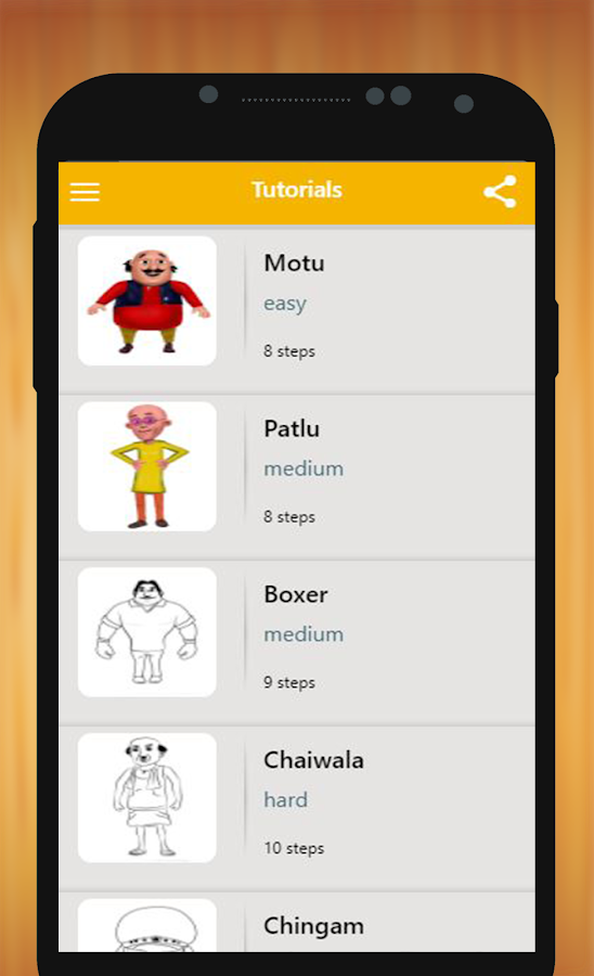 How To Draw Motu Patlu Characters 0 0 2 Apk Download Android Cats