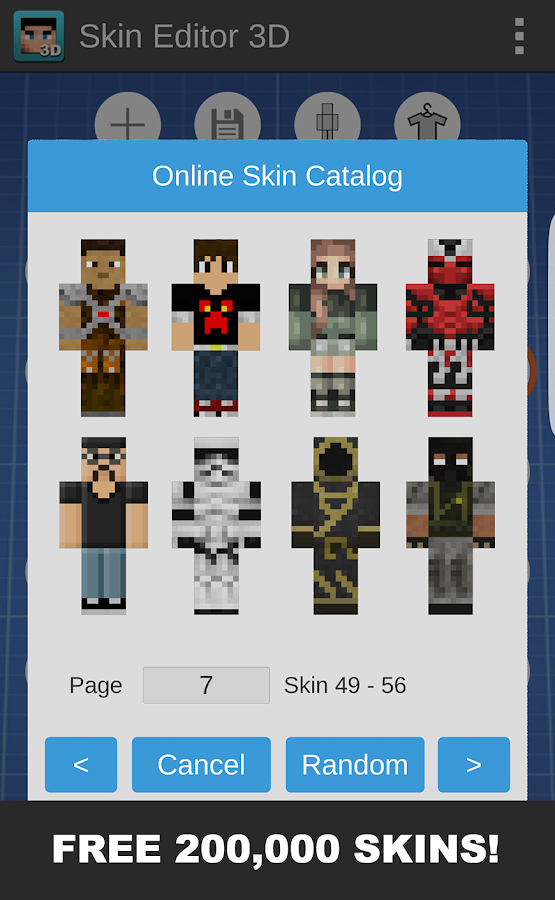 Skin Editor D For Minecraft APK Download Android Tools Apps - Skins para minecraft pocket edition android gratis