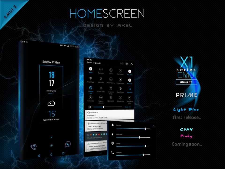 X1S Prime EMUI 5 Theme (Black) 1 4 0 APK Download - Android
