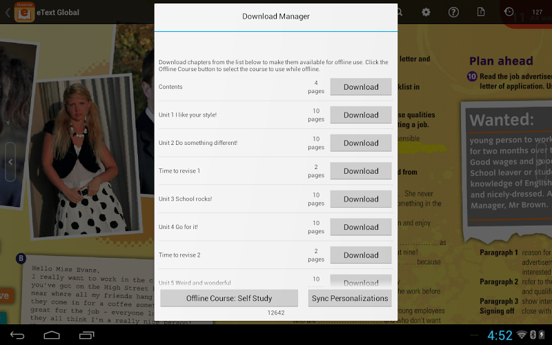 how to get pearson etext on android