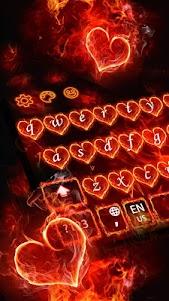Red Fire Heart Keyboard Theme 10001004 screenshot 10