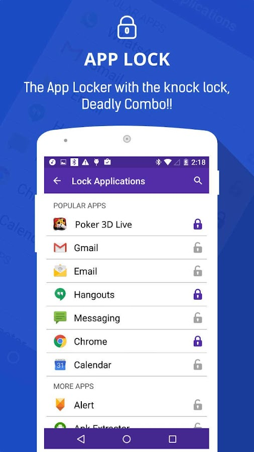 Knock Lock-App Lock Pro 6 5 0 APK Download - Android Tools Apps