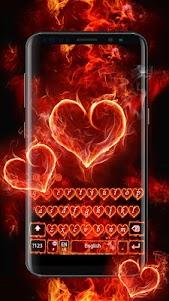 Red Fire Heart Keyboard Theme 10001004 screenshot 11