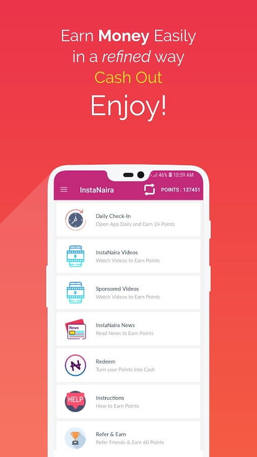 InstaNaira - Get Free Airtime and Cash in Nigeria 2 0 APK