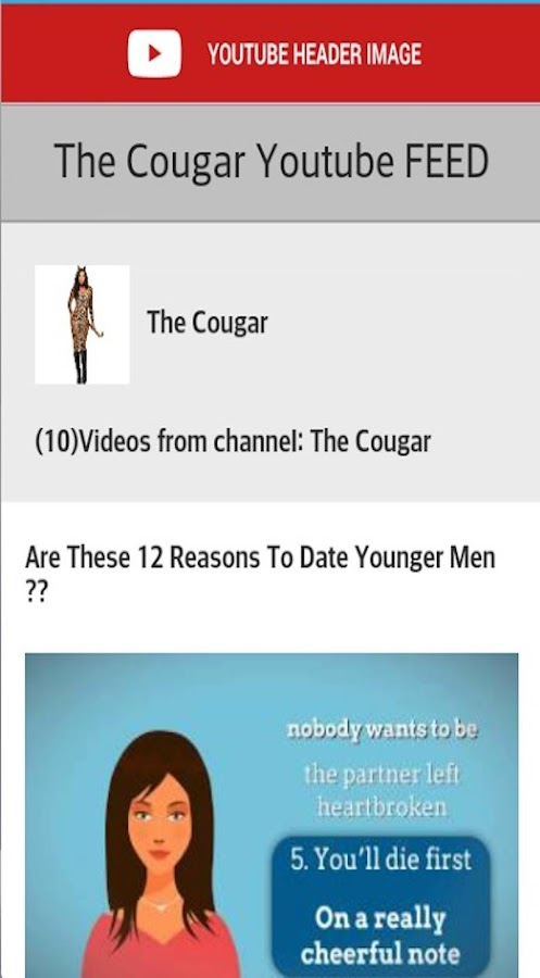 YouTube cougar dating