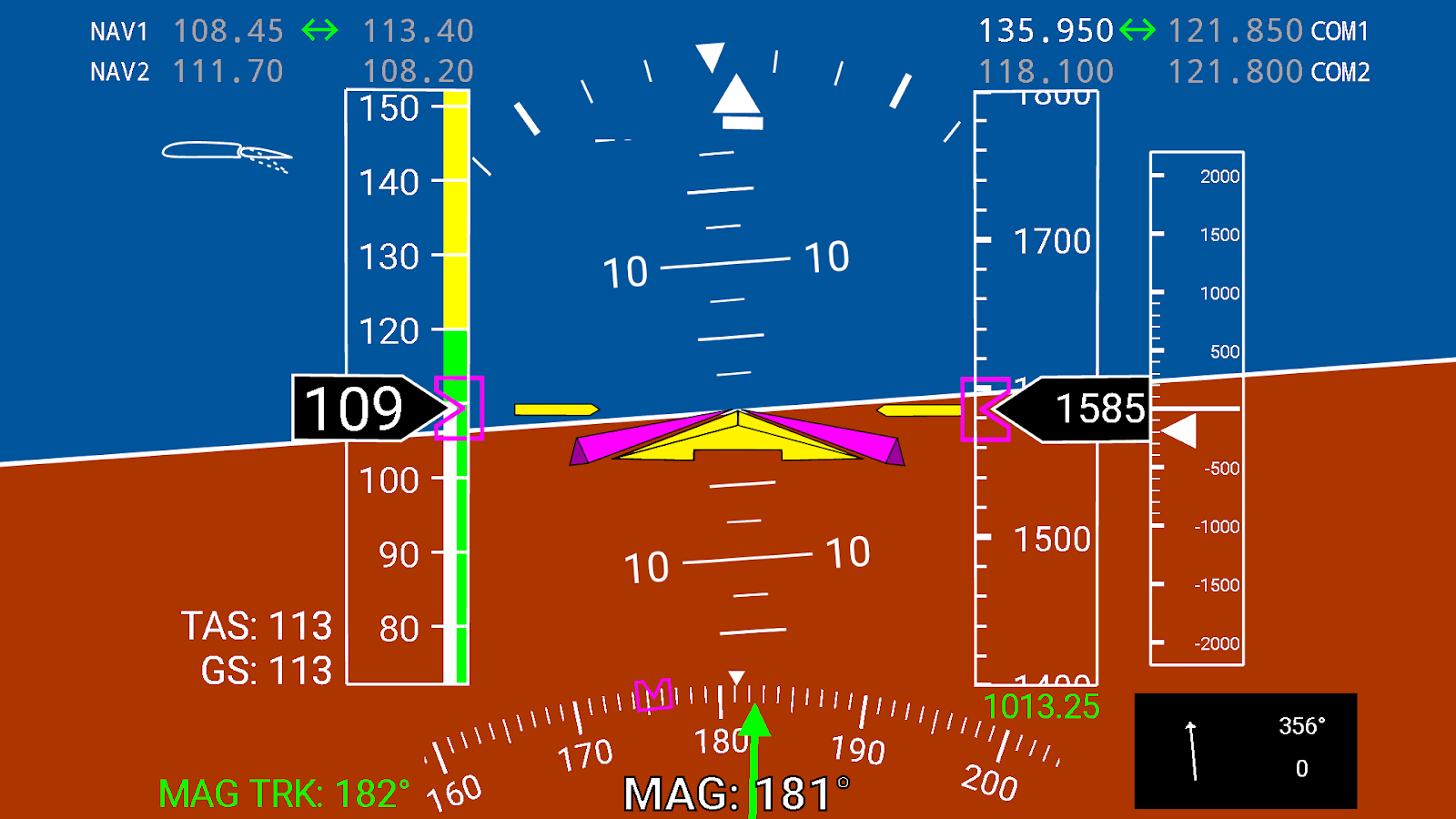 X-Plane Primary Flight Display 2 2 0 APK Download - Android