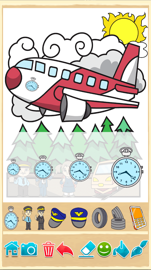 Beautiful Coloring Pages Screenshot 13 Planes Painting Game 14