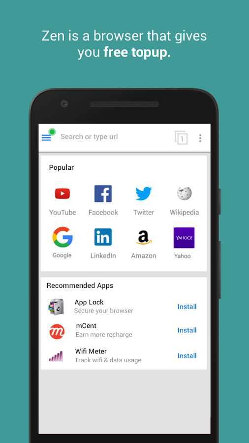 Zen Browser - Free Recharge 0 134 APK Download - Android